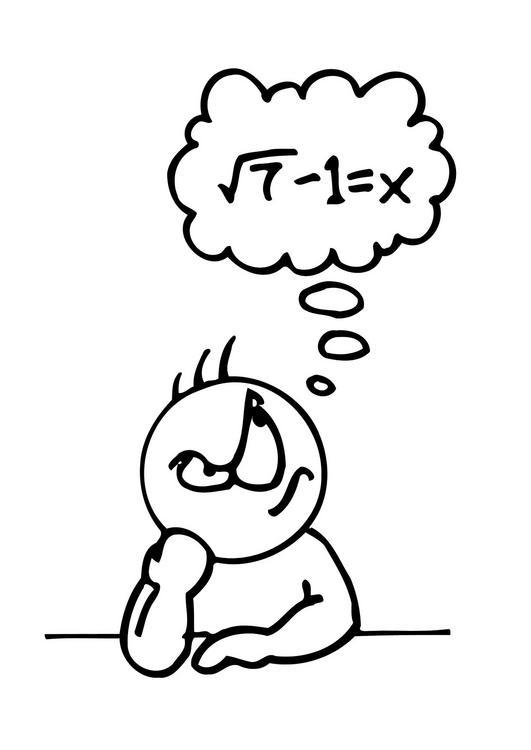 Niña pensando dibujo matematica Imagui